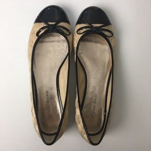 Etienne Aigner quilted leather ballet flats